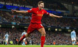 Liverpool's Steven Gerrard celebrates