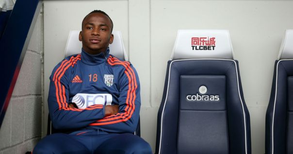 Saido-Berahino-of-West-Bromwich-Albion-looks-on-from-the-bench